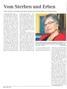 Artikel im Kölner Wochenspiegel; März 2016