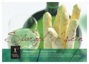 Beispiel für die Einladung zu einer Gastronomie-Lesung im Frühling